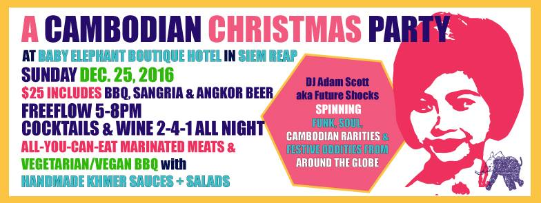 A Cambodian Christmas Party at Baby Elephant Boutique Hotel, Siem Reap, Cambodia - photo by Baby Elephant Boutique Hotel