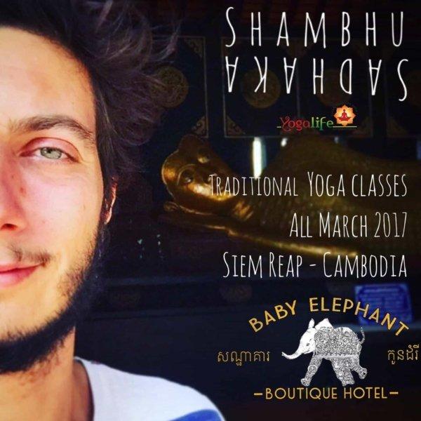 Shambhu joins our Siem Reap yoga community