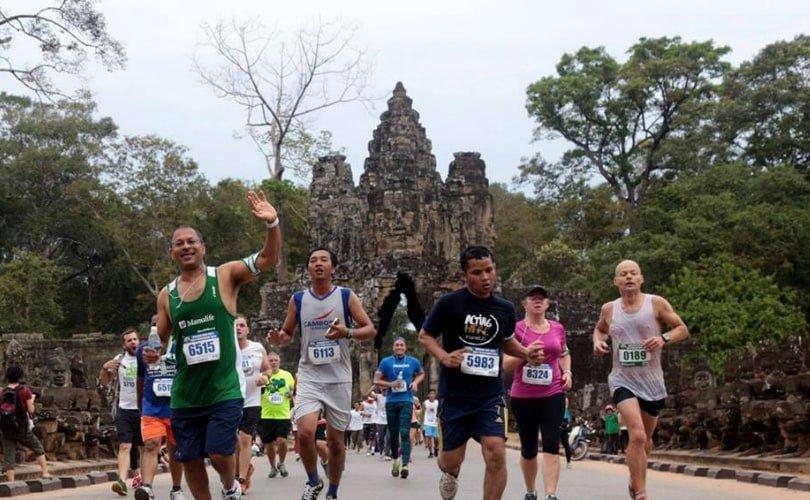 Angkor Empire Marathon in Siem Reap, Cambodia - photo via Angkor Empire Marathon
