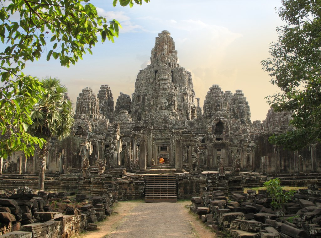 Bayon Temple at Angkor Thom, Angkor, Cambodia