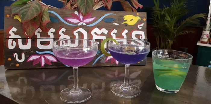 Special cocktails of the month for February 2018 at Baby Elephant Boutique Hotel in Siem Reap, Cambodia