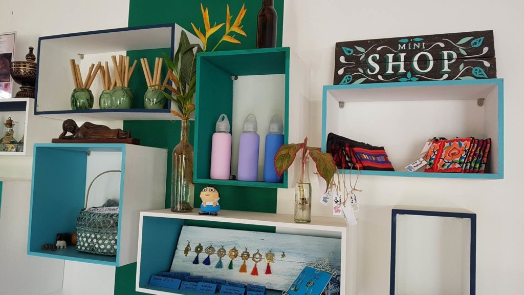 Gift shop at Baby Elephant Boutique Hotel in Siem Reap - photo by Baby Elephant Boutique Hotel