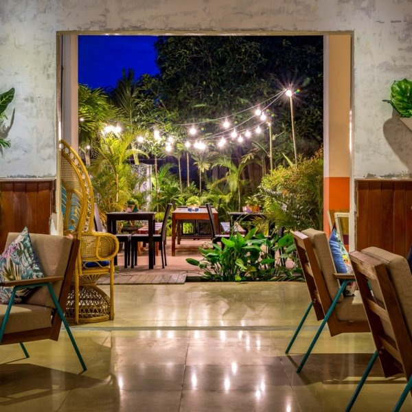 The lobby and gardens at Baby Elephant Boutique Hotel in Siem Reap, Cambodia - photo by Baby Elephant Boutique Hotel