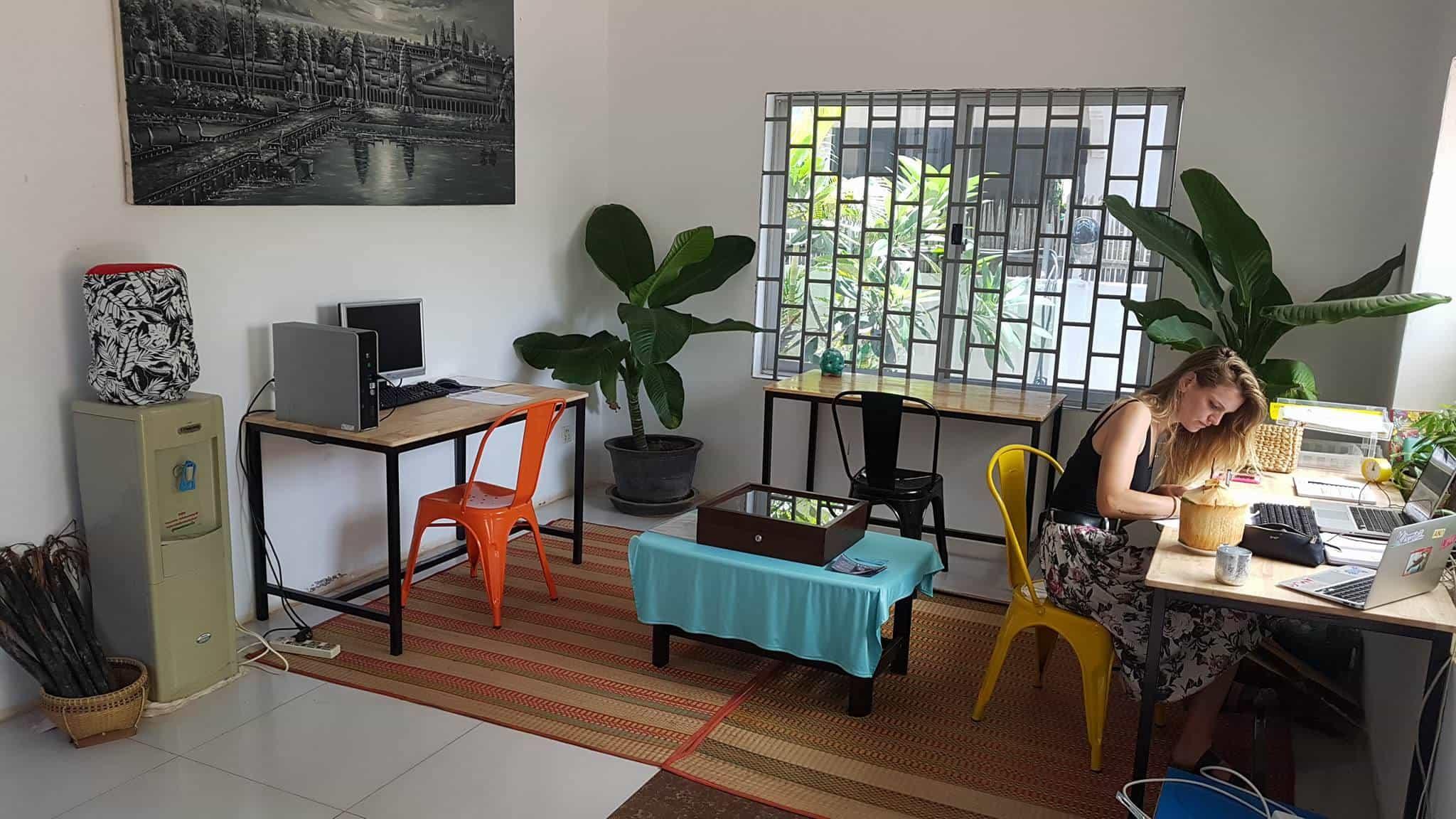 Tamara Venn Art artist in residence at Baby Elephant Boutique Hotel in Siem Reap, Cambodia