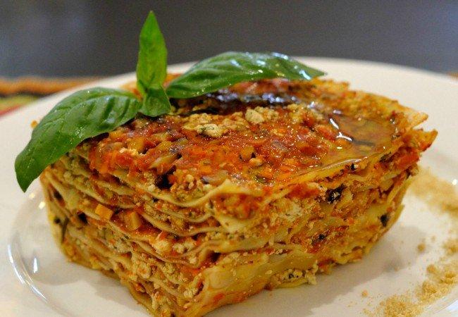 Vegan lasagna at La Pasta Italian restaurant in Siem Reap, Cambodia - photo by La Pasta